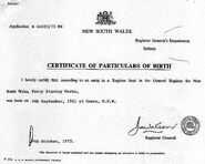 Percy Stanley Marks (1911 - 1988) Birth Certificate