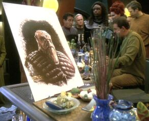 Morn art and Bajoran mourner