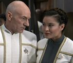 Picard and female ensign