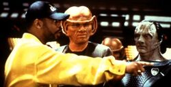 LeVar Burton directs Jeffrey Combs and Andrew Robinson