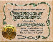 Maurice picard-winemaking certificate of excellence-2305