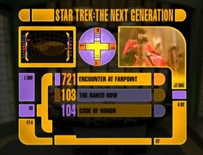 TNG season 1 DVD menu