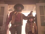 Worf and Alexander in Deadwood
