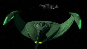 Romulan bird-of-prey, ENT-aft