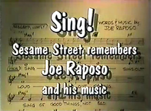 JOE RAPOSO SING