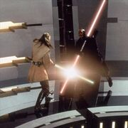 Darth maul blocking qui-gon