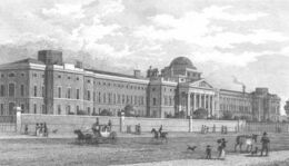 Bethlem Hospital in St George&#39;s Fields by Thomas Shepherd