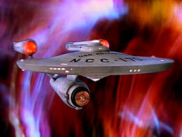USS Enterprise (NCC-1701) at galactic barrier