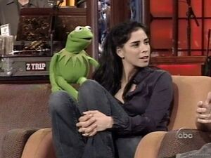 Sarha and kermit