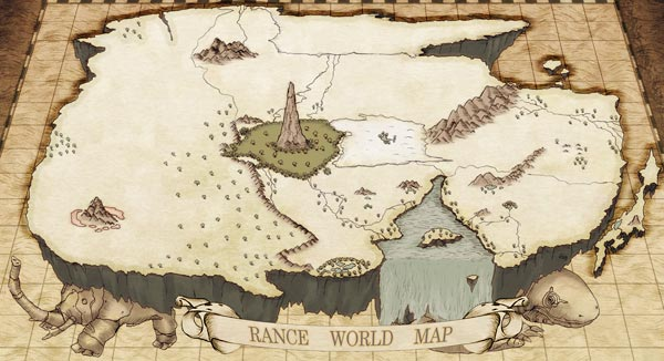 Rance world map