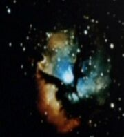 Trifid Nebula, Latent image