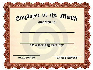 Employee of the year quotes quotesgram for Employee of the quarter certificate template