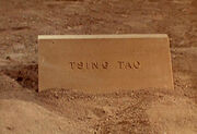 Tsing tao tombstone