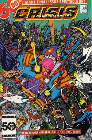 Cover for Crisis on Infinite Earths #12