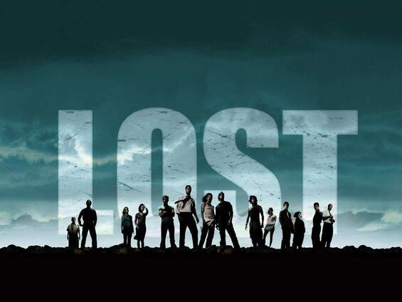 The ensemble cast of Lost's season one poses for a promotional still.