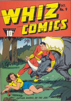 Cover for Whiz Comics #9