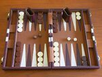 Modern backgammon set