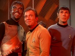 Kang, James T. Kirk, Spock