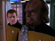 Worf and O'Brien, 2366