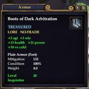 Boots of Dark Arbitration