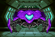 Samus&#39;s Metroid Fusion gunship