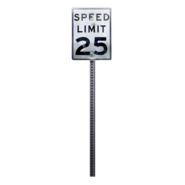 Sign 25mph redirect