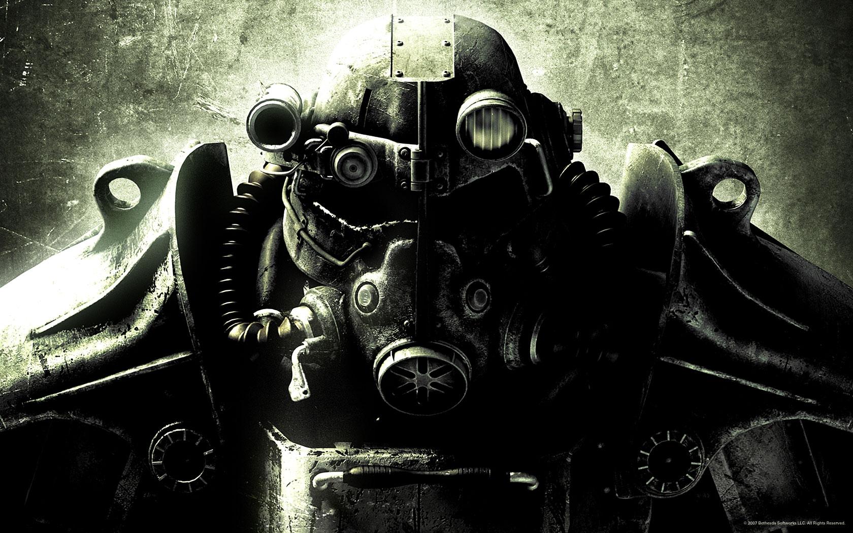 Hełm pancerza wspomaganego z serii Fallout.