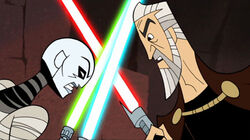 Duelos de Dooku cartoon