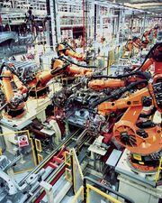 Industrial Robotics in car production