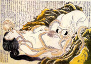 Dream of the fishermans wife hokusai