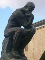 The Thinker close