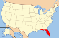 Map of USA FL