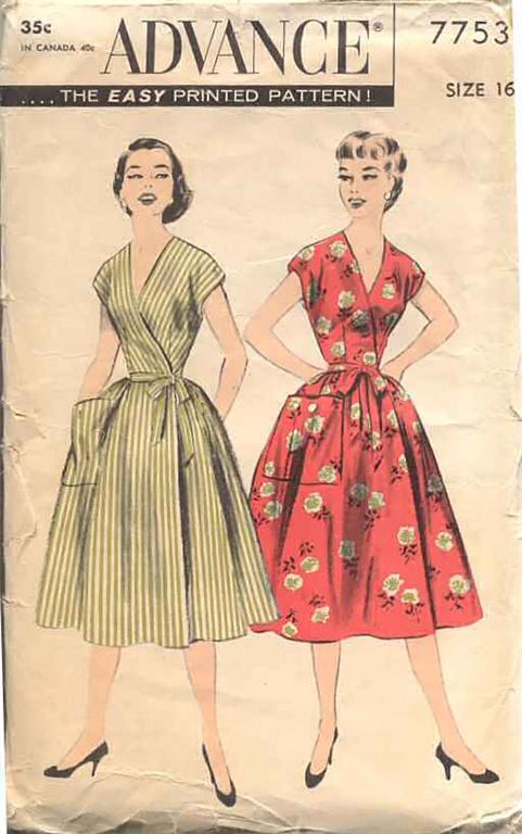 Advance 7753 Vintage Sewing Patterns