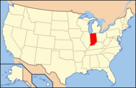 Map of USA IN