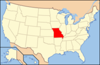 Map of USA MO