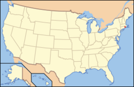 Map of USA RI