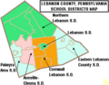 Map of Lebanon County Pennsylvania School Districts.png
