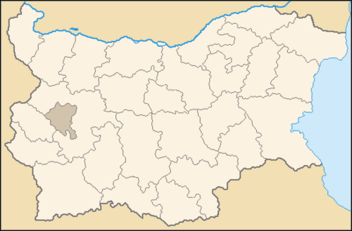 Bulgaria Provinces Map Blank