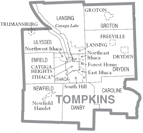 Tompkins County, New York Divisions