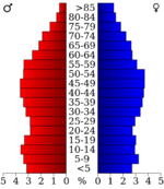 USA Hardin County, Tennessee.csv age pyramid