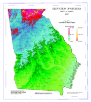 Map of Georgia elevations