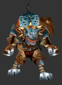 Gnoll warrior blue