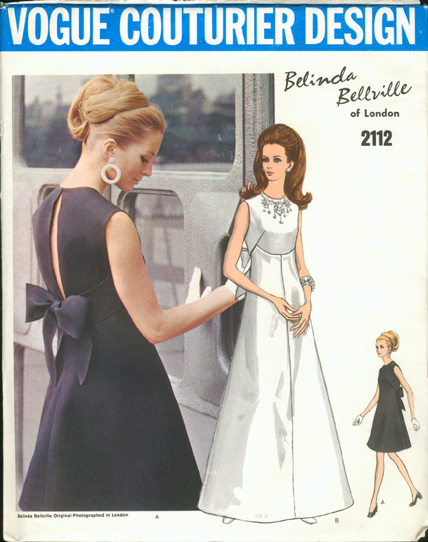 Late 1960s Belinda Bellville LBD pattern - Vogue 2112