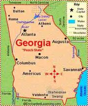Georgia map