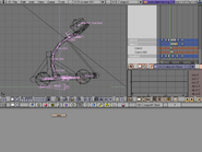 Blender demo screen animating