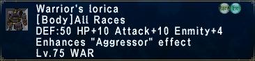 Warrior's Lorica