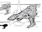 Klingon Battleship concept art