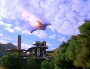 Bajoran raider over Bajor