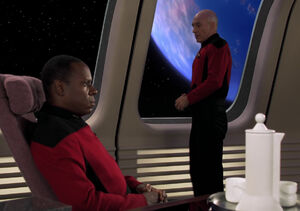 Sisko and Picard