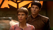 T&#39;Pol and Koss on Vulcan